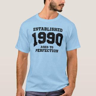 Camiseta Estabelecido 1990 envelhecido à perfeição