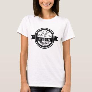Camiseta Estabelecido em 02148 Malden