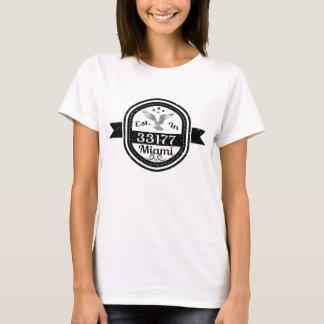 Camiseta Estabelecido em 33177 Miami