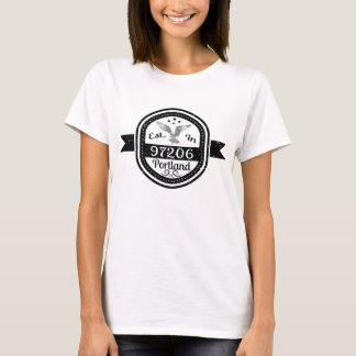 Camiseta Estabelecido em 97206 Portland
