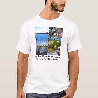 Camiseta Estação de Charles River quatro da fotografia de