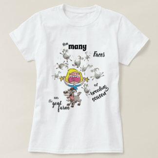 Camiseta Estação engraçada da criação de animais da fazenda