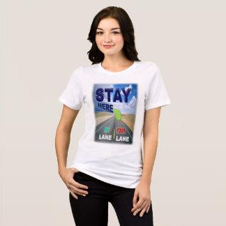 Camiseta Estada em seu t-shirt da pista