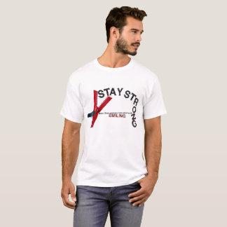 Camiseta Estada forte. Faça-os querer saber porque sorrindo