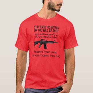 Camiseta Estada para trás 100 medidores de t-shirt de
