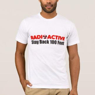 Camiseta Estada radioativa para trás 100 pés de t-shirt