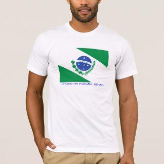 Camiseta Estado brasileiro de bandeira de Paraná