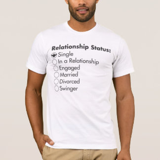 Camiseta Estado da relação: Solteiro
