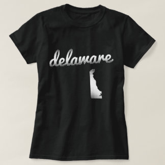 Camiseta Estado de Delaware no branco