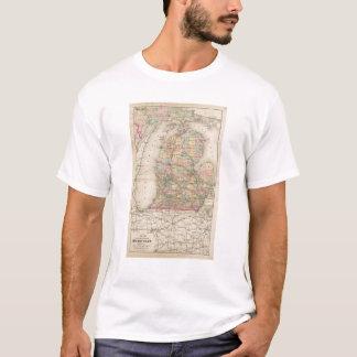 Camiseta Estado de mapa do atlas de Michigan