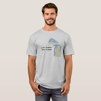 Camiseta Estado de t-shirt de Michigan - água 41,5%!