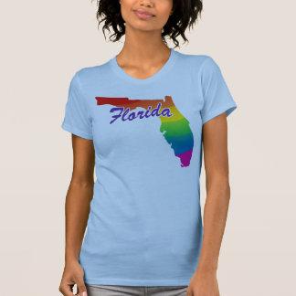 Camiseta Estado do Flórida do arco-íris