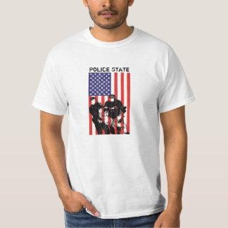 Camiseta Estado policial afligido da bandeira americana