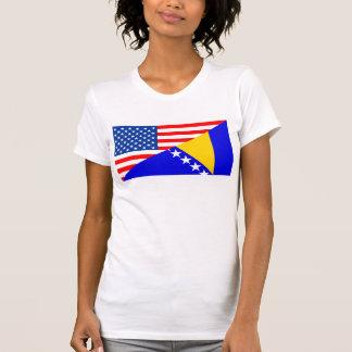 Camiseta Estados Unidos América Bósnia - bandeira de