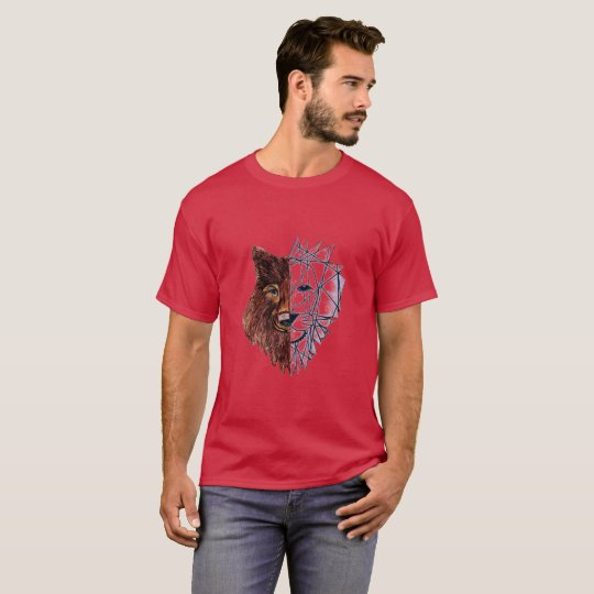 Camiseta Estampa lobo/leão