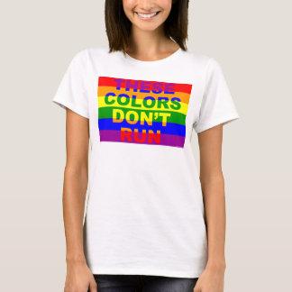 Camiseta Estas cores não funcionam a bandeira do arco-íris