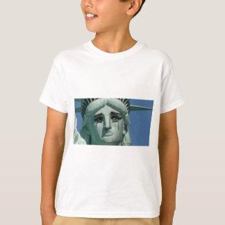 Camiseta Estátua da liberdade de grito