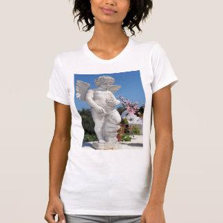 Camiseta Estátua do anjo no branco