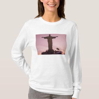 Camiseta Estátua do cristo em Corcovado, subúrbios próximos