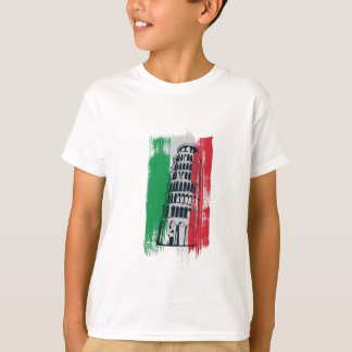 Camiseta estátua italiana do vintage