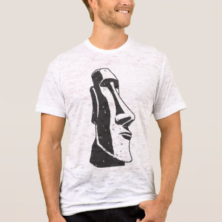 Camiseta Estátua principal de Moai da Ilha de Páscoa