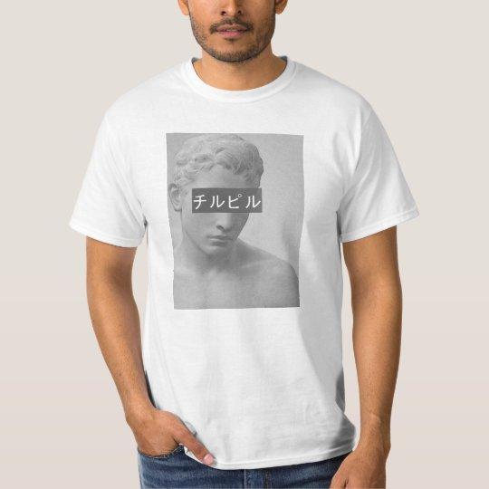 camiseta estátua triste