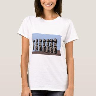 Camiseta Estátuas da ilha do nui de Rapa