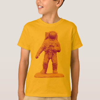Camiseta Estatueta retro do astronauta