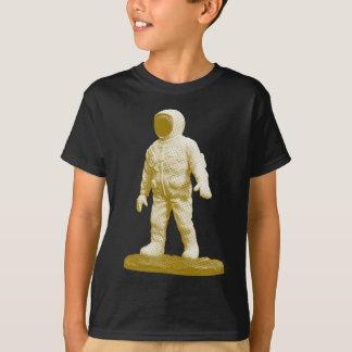 Camiseta Estatueta retro do homem do espaço