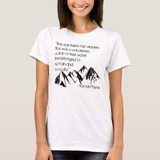 Camiseta Estava livre em seu t-shirt do Wildness