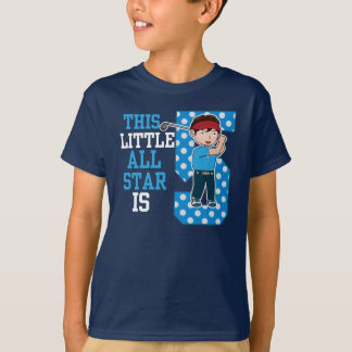 Camiseta ESTE ALL STAR pequeno é T de 5 ANIVERSÁRIOS