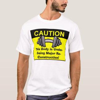 Camiseta Este corpo está submetendo-se à reconstrução