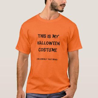 Camiseta Este é meu traje do Dia das Bruxas, (eu sou