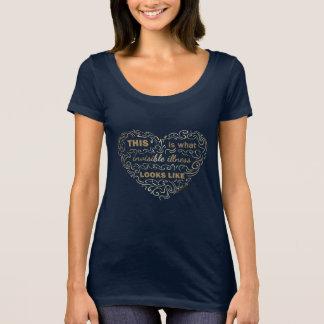 Camiseta Este é o que a doença invisível olha como a colher