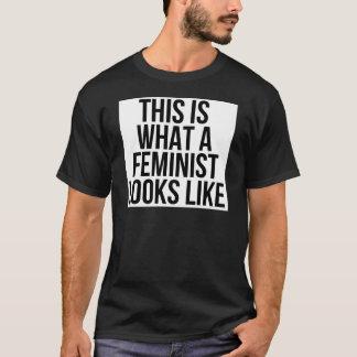 Camiseta Este é o que uma feminista olha como - feminismo