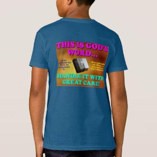 Camiseta Este é punho da palavra do deus… ele com grande