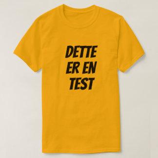 Camiseta Este é um teste, no norueguês, alaranjado
