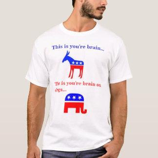 Camiseta Este é você é cérebro em drogas