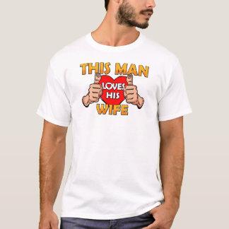 Camiseta Este homem ama sua esposa