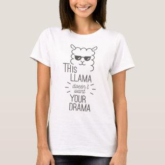Camiseta Este lama não quer seu drama