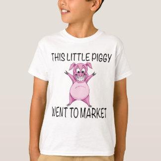 Camiseta Este leitão pequeno foi introduzir no mercado