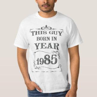 Camiseta Este nascer da cara no ano 1985