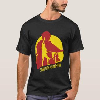 Camiseta Esteja com ou retire-se