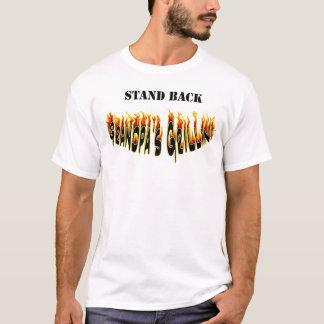 Camiseta Esteja para trás chamas do Grillin do vovô