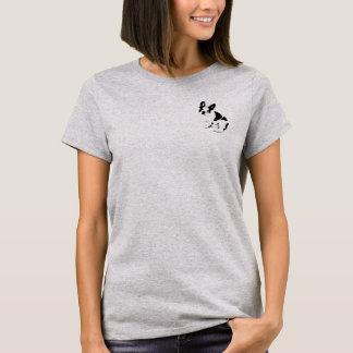 Camiseta Estêncil pequeno do buldogue francês
