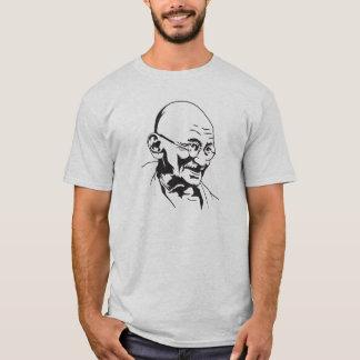 Camiseta estêncil retro do retrato de india do gandhi