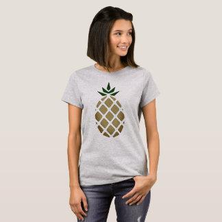 Camiseta Estêncil tropical do abacaxi