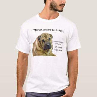Camiseta Estes não são enrugamentos… São linhas do caráter