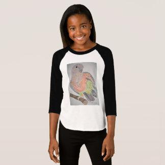 Camiseta esticão Vermelho-inchado オウムパロット do papagaio