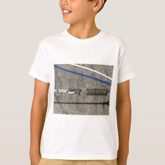 Camiseta Estilingue da corda com o grilhão de âncora da
